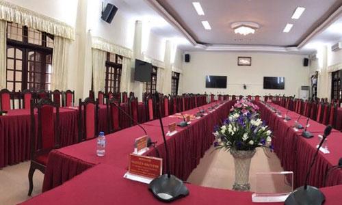 Hệ thống hội thảo, hội nghị BOSCH CCS 900 : âm thanh phòng họp Quân sự tỉnh Bắc Giang
