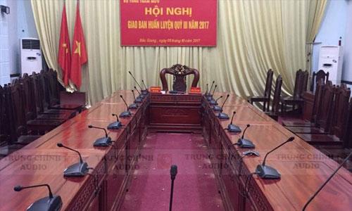 Hệ thống hội thảo, hội nghị BOSCH CCS 1000D: Phòng họp Bộ Tổng Tham Mưu