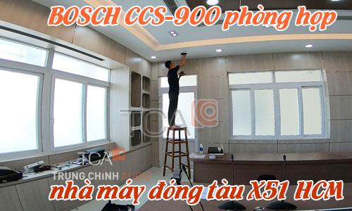 Hệ thống âm thanh hội thảo BOSCH css-900:  phòng họp hội nghị Nhà máy đóng tàu X51 HCM