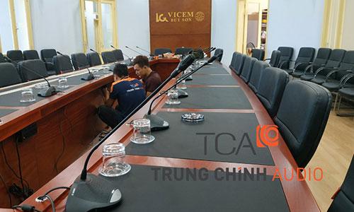 Hệ thống hội thảo, hội nghị Bosch CCS900: phòng họp công ty VICEM Bút Sơn Hà Nam