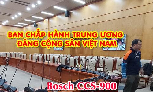 Hệ thống hội thảo Bosch CCS 1000D: BAN CHẤP HÀNH TRUNG ƯƠNG ĐẢNG CỘNG SẢN VIỆT NAM