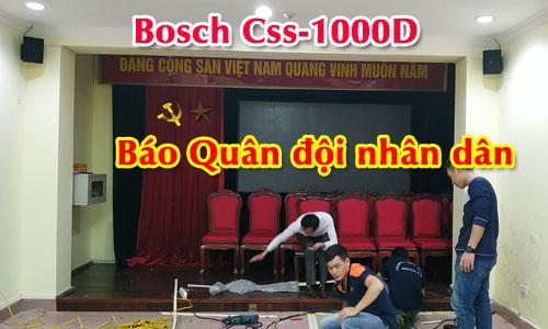 Hệ thống âm thanh phòng họp hội thảo Bosch CCS1000D: Báo Quân đội nhân dân