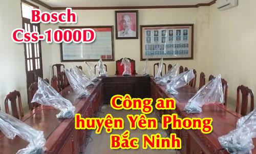 Hệ thống âm thanh hội thảo Bosch CCS1000D: Phòng họp hội nghị Công an huyện Yên Phong Bắc Ninh