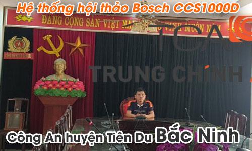Hệ thống hội thảo Bosch CCS1000D âm thanh phòng họp,hội nghị: công an huyện Tiên Du,Bắc Ninh