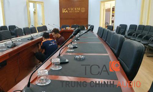 Âm thanh phòng họp: hội thảo, hội nghị Bosch CCS900 công ty VICEM Bút Sơn Hà Nam