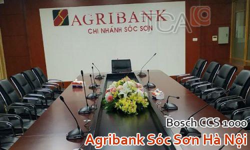 Âm thanh hội thảo BOSCH CCS1000D: Agribank Sóc Sơn Hà Nội - phòng họp, hội nghị