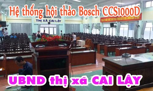 Hệ thống âm thanh phòng họp Bosch CCS-1000D: UBND thị xã Cai Lậy