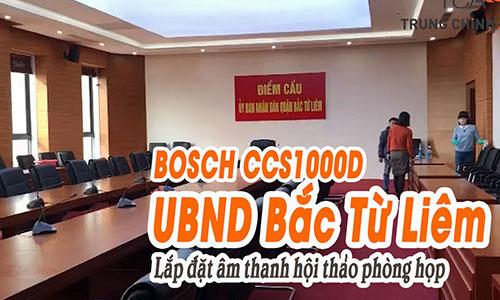 Hệ thống âm thanh hội thảo BOSCH CCS-1000: phòng họp hội nghị UBND Bắc Từ Liêm, HN