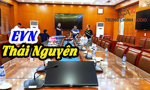 Hệ thống âm thanh phòng họp Bosch CCS 1000D hội thảo hội nghị trực tuyến: EVN Thái Nguyên