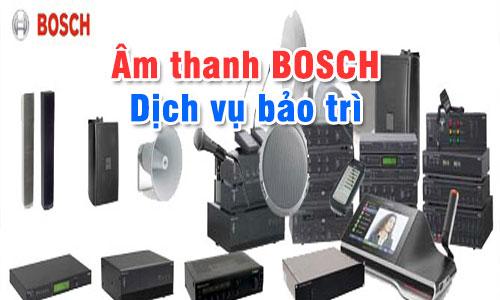Bảo trì hệ thống âm thanh hội thảo, âm thanh thông báo BOSCH