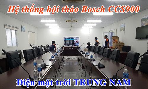 Hệ thống âm thanh phòng họp Bosch CCS900: Điện mặt trời Trung Nam