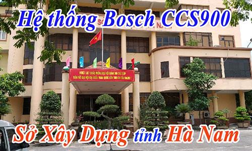 Hệ thống hội thảo Bosch CCS900: Sở Xây Dựng Tỉnh Hà Nam