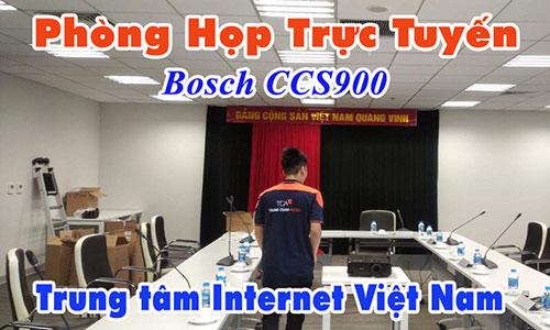 Âm thanh hội thảo Bosch CCS900: Phòng họp trực tuyến Trung tâm Internet Việt Nam