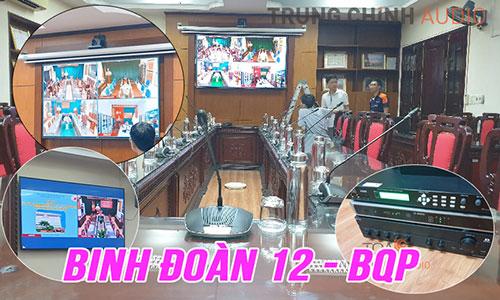 Phòng họp trực tuyến hội nghị hội thảo Bosch CCS1000D: Binh Đoàn 12 BQP