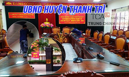 Phòng họp hội nghị trực tuyến, hội thảo Bosch CCS1000D: UBND huyện Thanh Trì