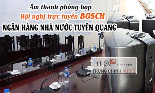 Hệ thống âm thanh hội nghị Bosch CCS 1000D: Ngân hàng nhà nước Tuyên Quang