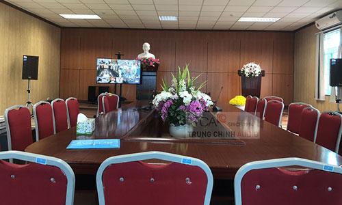 Hệ thống âm thanh hội thảo hội nghị Bosch CCS900 phòng họp trực tuyến: BHXH huyện Yên Mỹ