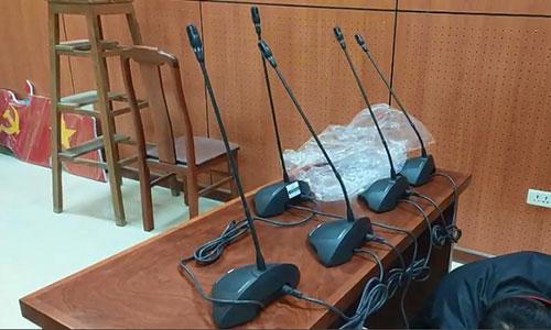 Hệ thống âm thanh hội thảo hội nghị Bosch CCS900 phòng họp trực tuyến: BHXH huyện Tiên Lữ