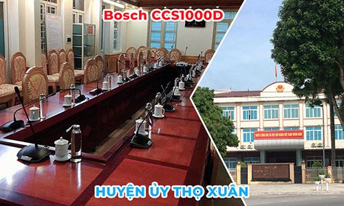 Hệ thống âm thanh hội thảo BOSCH css-1000: phòng họp hội nghị UBND huyện Thọ Xuân, Thanh Hóa