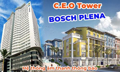 Hệ thống âm thanh thông báo BOSCH Plena Vas: tòa nhà, tập đoàn C.E.O Group Tower, Hà Nội